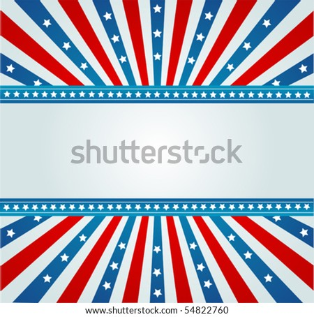 A patriotic background for Fourth of July - stock vector