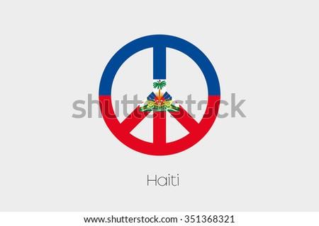 Peace Symbol Flag Haiti Stock Vector 351368321 Shutterstock