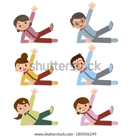 A person with an individual exercise - stock vector