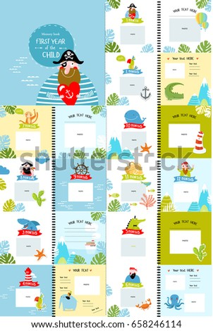 Photo Book Cartoon Characters Children First Stock Vector HD ...