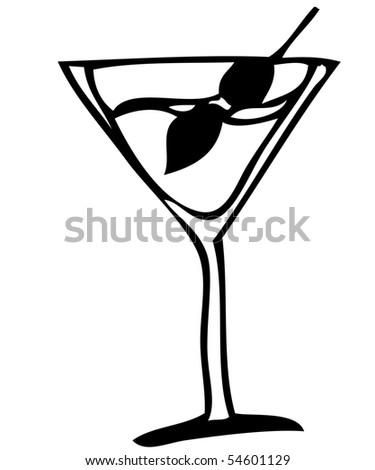 A picture of a glass with alcohol drink