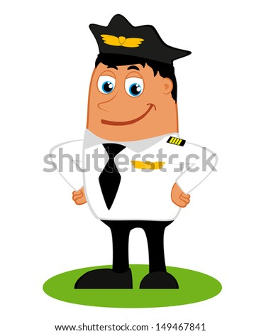 A pilot on a white background, vector  - stock vector