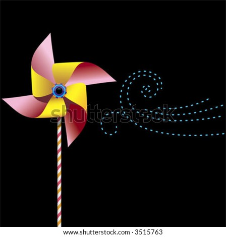 a pinwheel about to go for a spin