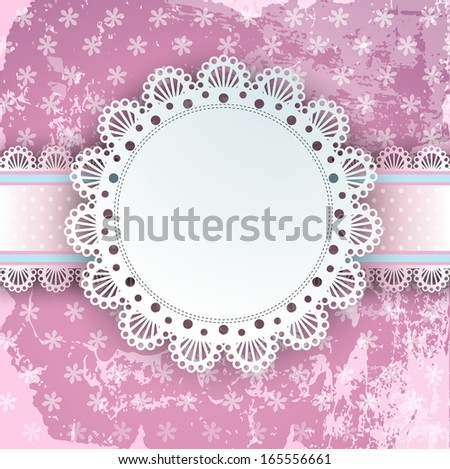 a place for an inscription on a beautiful pink background - stock vector