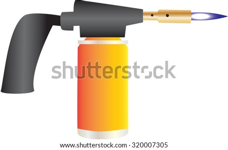 A Plumbers Blow Torch isolated on white