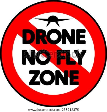 A prohibitive Drone No Fly Zone sign vector  - stock vector
