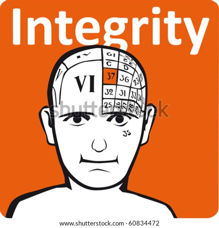 A psychology model - the integrity section of the brain - stock vector