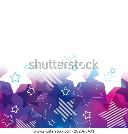 A purple and blue star themed background design