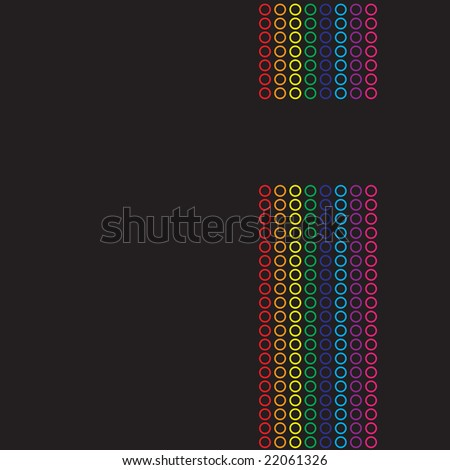A rainbow colored abstract design template.  This vector is fully customizable. - stock vector