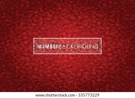 a red abstract number background - stock vector