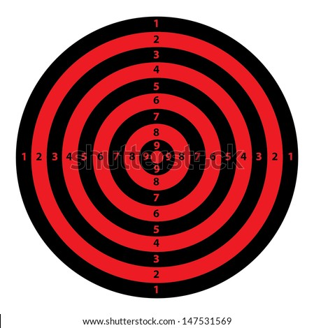 A Red and Black Target. Vector