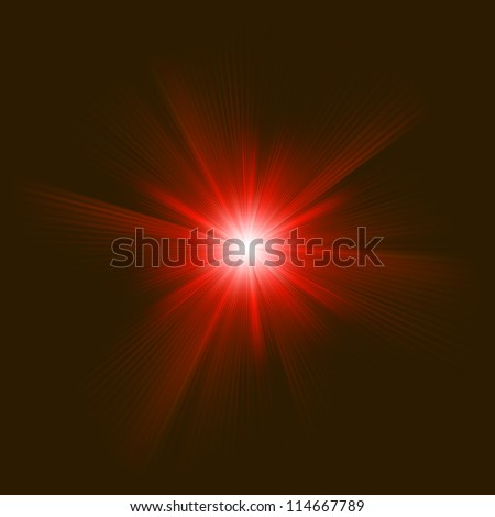 A red color design with a burst. EPS 8 vector file included - stock vector