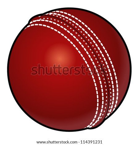 A red cricket ball.
