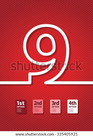 a red number background - stock vector