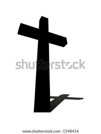 A religious cross. - stock vector