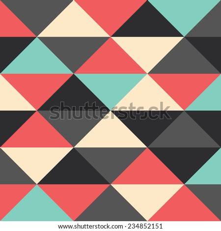 A retro geometric vector pattern