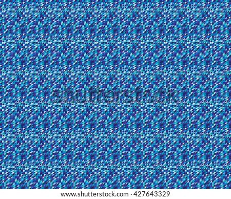 A retro triangle pattern in blue, green and purple. A seamless vector pattern.