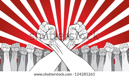 a revolution poster - stock vector