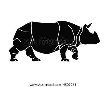 A rhinoceros - stock vector