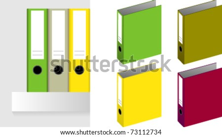 a ring binder isolated on a white background - stock vector