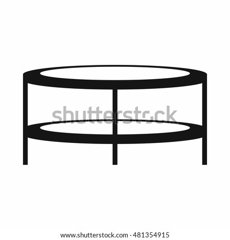 coffee table clipart black and white. a round coffee table in simple style isolated on white background vector illustration clipart black and