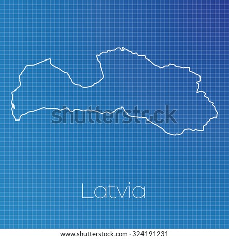 Schematic Outline Country Latvia Stock Vector 324191231 - Shutterstock