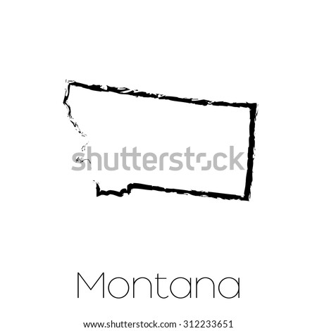 montana outline stock images, royalty-free images & vectors