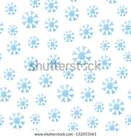 A seamless pattern of falling winter snowflakes. - stock vector