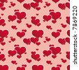 a seamless pattern with hearts. vector illustration. easy to change colors - each color is a separate layer. no meshes. - stock vector