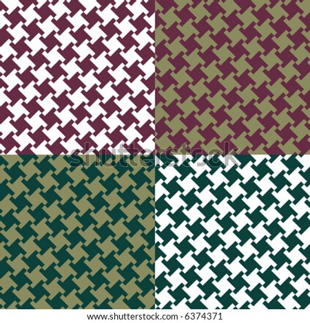 A seamless, repeating vector houndstooth pattern in classic colors. - stock vector