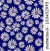 A seamless tile with a 60s retro flower design - stock vector