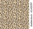 A seamless vector leopard fur pattern in current fashion colors. - stock vector