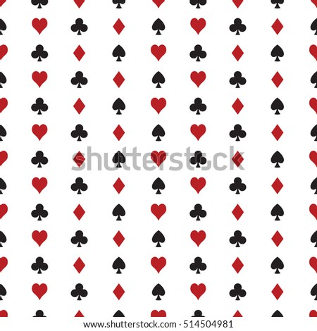 A seamless vector poker pattern. This repeating texture would be ideal for use in textile design or wrapping paper.