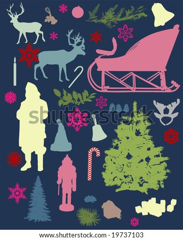 a series of silhouettes relating to Christmas. For more high quality silhouettes, see also my Shutterstock files #13963618, #13360948, #13360951, #14051254,  #26799640 - stock vector