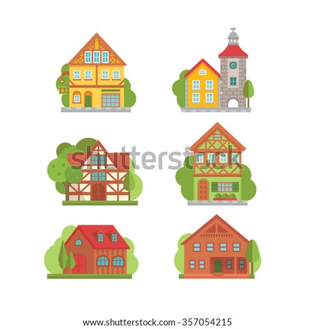 A set of building and city related icons