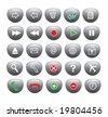 A set of  buttons vector - stock vector