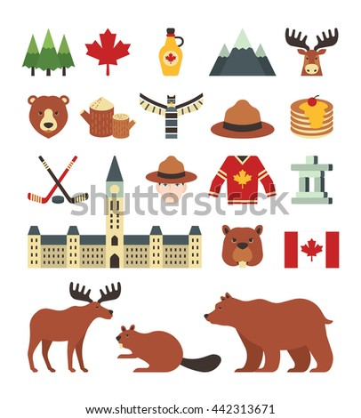 A set of canada icons - stock vector