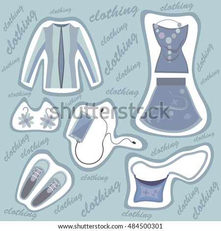 A set of clothes. Vector illustration.