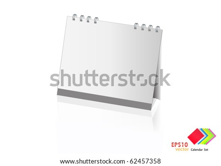 A set of colorful calendar with blank space. Vector illustration. (white) - stock vector