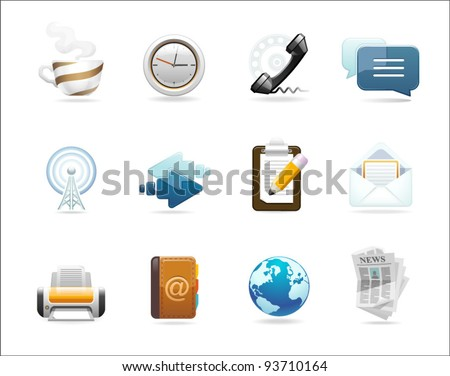 a set of communication icons - stock vector