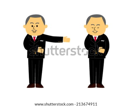 A set of concierge images, man, vector illustration  - stock vector