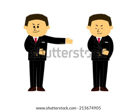 A set of concierge images, young man, vector illustration  - stock vector