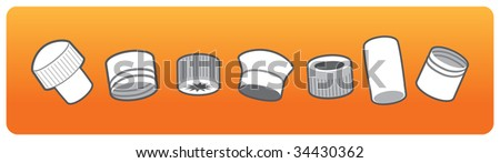 a set of corks - stock vector