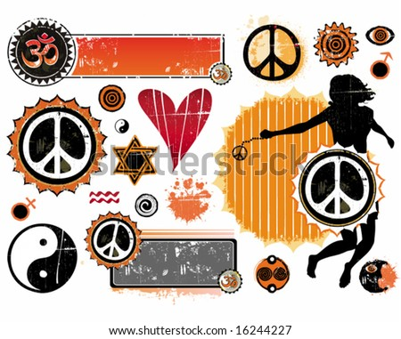 A set of Esoteric symbols. To see similar, please VISIT MY GALLERY. - stock vector