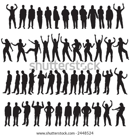 A set of fifty different people designs - stock vector