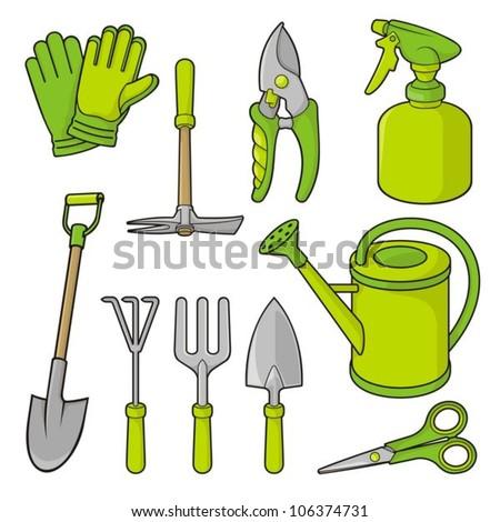 Fractalgr 39 s portfolio on shutterstock for Gardening tools vector