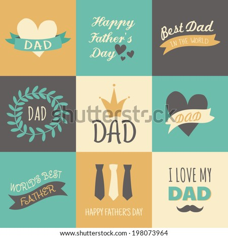 Set greeting cards fathers day stock vector hd royalty free a set of greeting cards for fathers day m4hsunfo