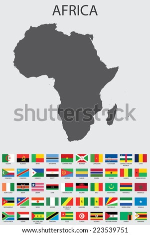 A Set of Infographic Elements for the Country of Africa - stock vector