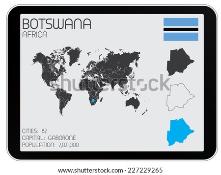 A Set of Infographic Elements for the Country of Botswana