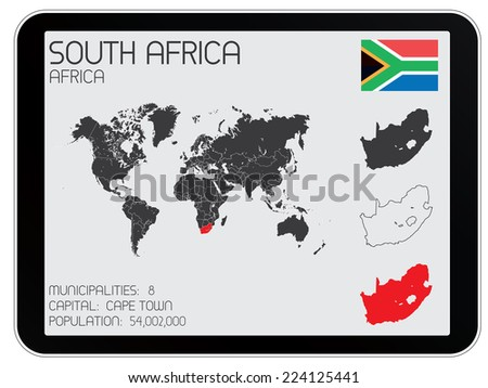 A Set of Infographic Elements for the Country of South Africa - stock vector